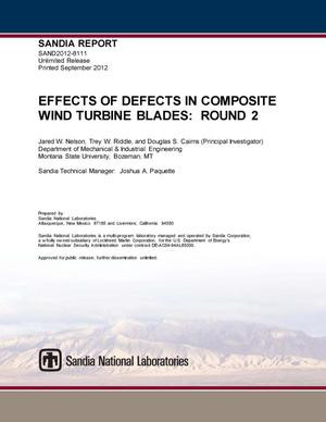Primary view of object titled 'Effects of defects in composite wind turbine blades. Round 2.'.