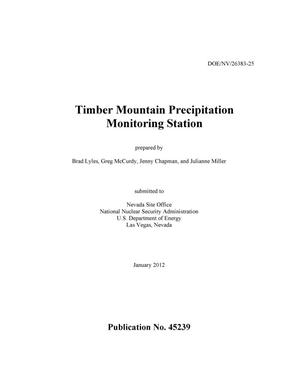 Primary view of object titled 'Timber Mountain Precipitation Monitoring Station'.