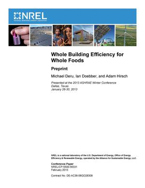 Primary view of object titled 'Whole Building Efficiency for Whole Foods: Preprint'.
