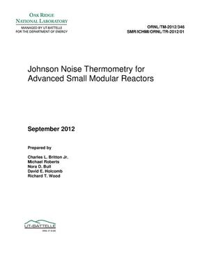 Primary view of object titled 'Johnson Noise Thermometry for Advanced Small Modular Reactors'.