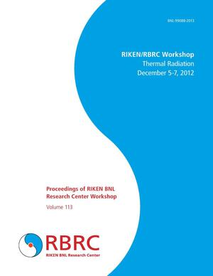 Primary view of object titled 'Proceedings of RIKEN BNL Research Center Workshop: Thermal Radiation Workshop'.