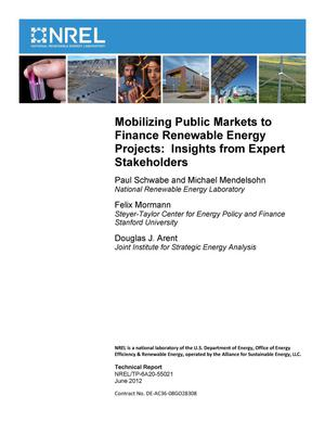 Primary view of object titled 'Mobilizing Public Markets to Finance Renewable Energy Projects: Insights from Expert Stakeholders'.