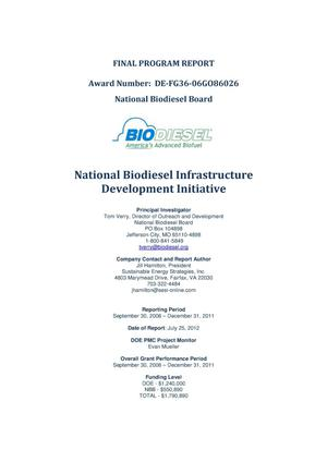 Primary view of object titled 'National Biodiesel Infrastructure Development Initiative Final Program Report'.