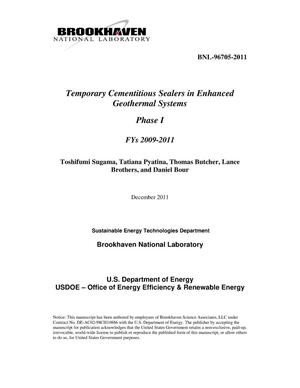 Primary view of object titled 'Temporary Cementitious Sealers in Enhanced Geothermal Systems'.