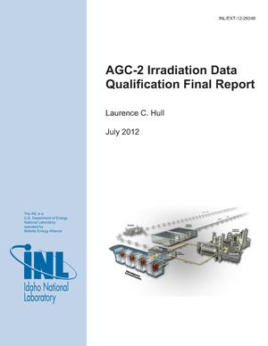 Primary view of object titled 'AGC-2 Irradiation Data Qualification Final Report'.