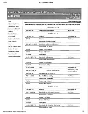 Primary view of object titled '2008 American Conference on Theoretical Chemistry'.