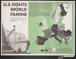 Primary view of object titled 'Newsmap for the Armed Forces : U.S. fights world famine'.
