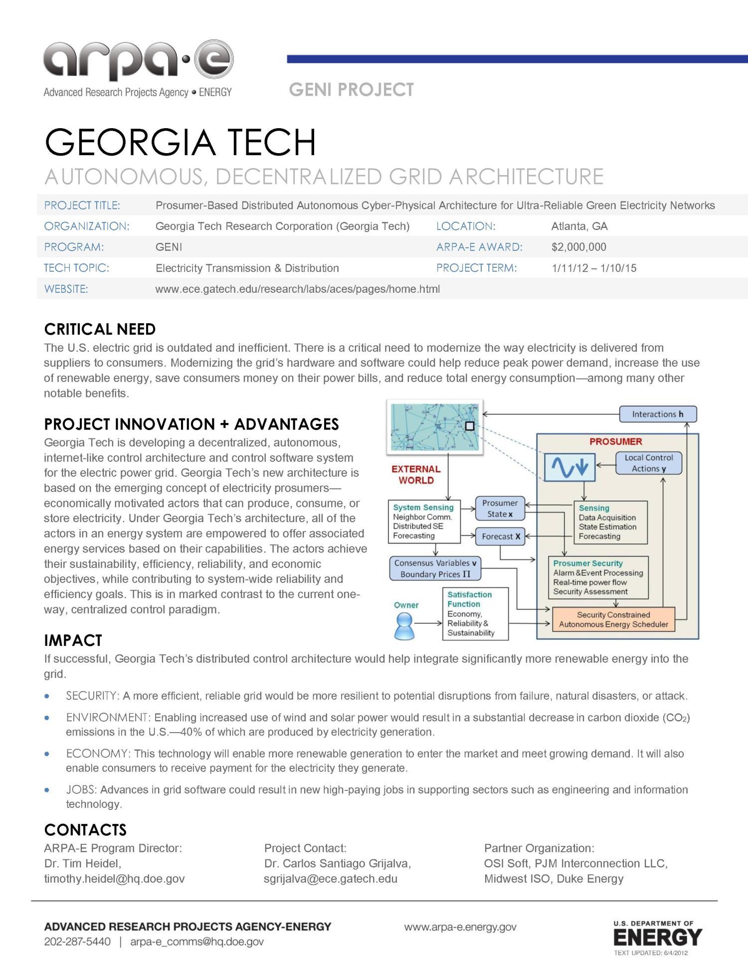 Autonomous, Decentralized Grid Architecture - Digital Library