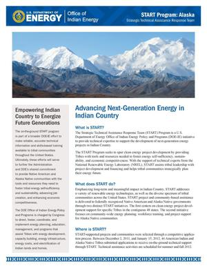 Primary view of object titled 'Advancing Next-Generation Energy in Indian Country (Fact Sheet)'.