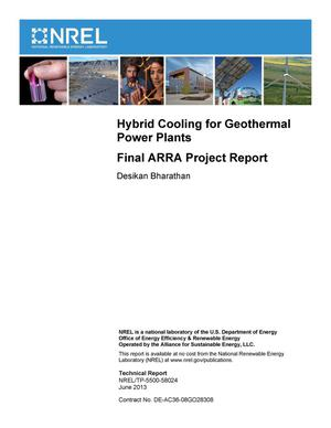 Primary view of object titled 'Hybrid Cooling for Geothermal Power Plants: Final ARRA Project Report'.