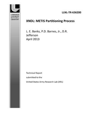 Primary view of object titled 'XNDL: METIS Partitioning Process'.