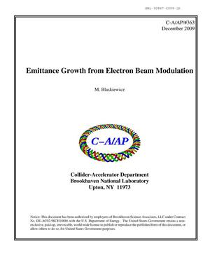 Primary view of object titled 'Emittance Growth from Electron Beam Modulatio'.