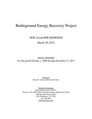 Primary view of object titled 'Battleground Energy Recovery Project'.