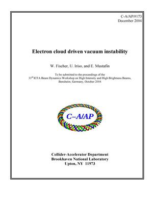Primary view of object titled 'Electron cloud driven vacuum instability'.