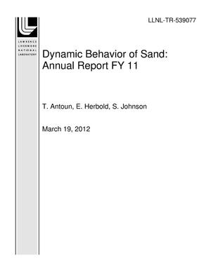 Primary view of object titled 'Dynamic Behavior of Sand: Annual Report FY 11'.