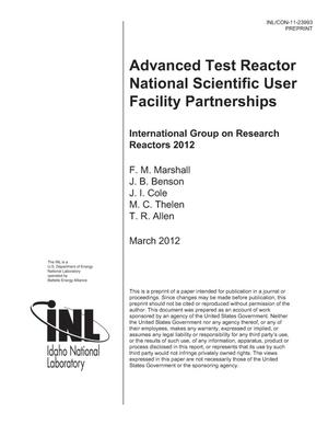 Primary view of object titled 'Advanced Test Reactor National Scientific User Facility Partnerships'.