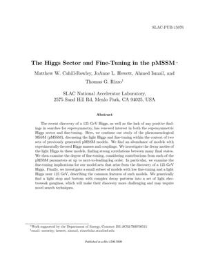 Primary view of object titled 'The Higgs Sector and Fine-Tuning in the pMSSM'.
