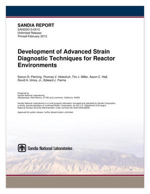 Primary view of object titled 'Development of advanced strain diagnostic techniques for reactor environments.'.