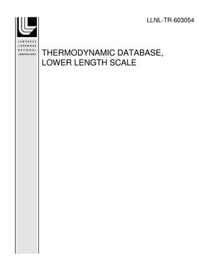 Primary view of object titled 'THERMODYNAMIC DATABASE, LOWER LENGTH SCALE - PART II: THERMODYNAMIC ASSESSMENT OF AL-MO-SI-U (M3MS-12LL0602092)'.