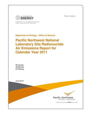 Primary view of object titled 'Pacific Northwest National Laboratory Site Radionuclide Air Emissions Report for Calendar Year 2011'.