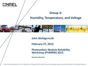 Primary view of object titled 'Group 3: Humidity, Temperature, and Voltage (Presentation)'.