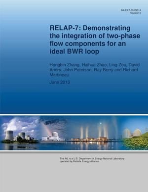 Primary view of object titled 'RELAP-7: Demonstrating the integration of two-phase flow components for an ideal BWR loop'.