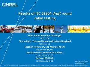 Primary view of object titled 'Results of IEC 62804 Draft Round Robin Testing (Presentation)'.