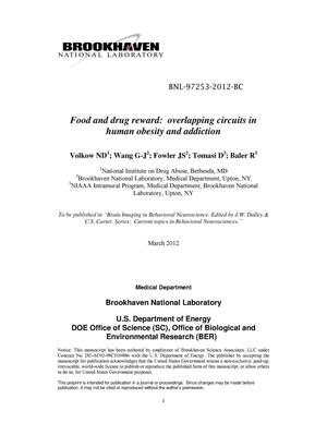 Primary view of object titled 'Food and drug reward: overlapping circuits in human obesity and addiction'.