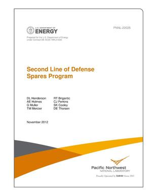 Primary view of object titled 'Second Line of Defense Spares Program'.