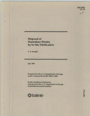 Primary view of object titled 'DISPOSAL OF HAZARDOUS WASTES BY IN SITU VITRIFICATION'.