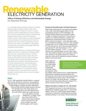 Primary view of object titled 'Renewable Electricity Generation (Fact Sheet)'.
