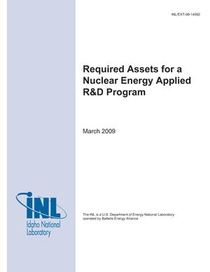 Primary view of object titled 'Required Assets for a Nuclear Energy Applied R&D Program'.