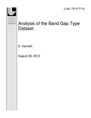 Primary view of object titled 'Analysis of the Band Gap Type Dataset'.