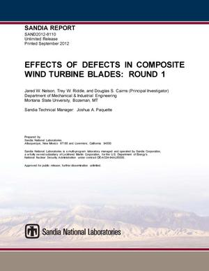 Primary view of object titled 'Effects of defects in composite wind turbine blades. Round 1.'.