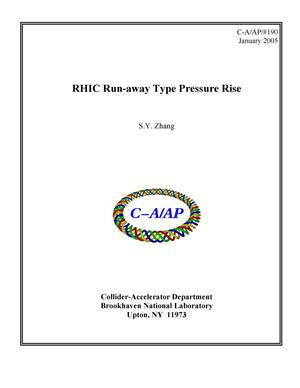 Primary view of object titled 'RHIC Run-away Type Pressure Rise'.