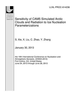 Primary view of object titled 'Sensitivity of CAM5 Simulated Arctic Clouds and Radiation to Ice Nucleation Parameterizations'.