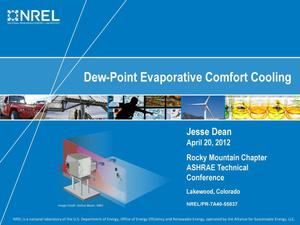 Primary view of object titled 'Dew-Point Evaporative Comfort Cooling (Presentation)'.