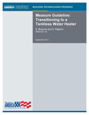 Primary view of object titled 'Measure Guideline: Transitioning to a Tankless Water Heater'.