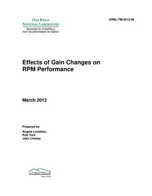 Primary view of object titled 'Effects of Gain Changes on RPM Performance'.
