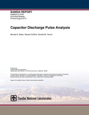 Primary view of object titled 'Capacitor discharge pulse analysis.'.
