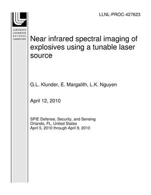 Primary view of object titled 'Near infrared spectral imaging of explosives using a tunable laser source'.