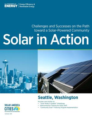 Primary view of object titled 'Seattle, Washington: Solar in Action (Brochure)'.