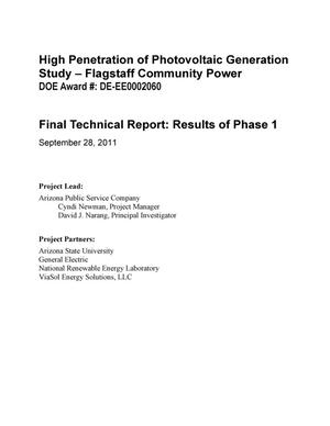 Primary view of object titled 'Final Technical Report: Results of Phase 1'.