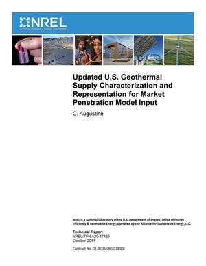 Primary view of object titled 'Updated U.S. Geothermal Supply Characterization and Representation for Market Penetration Model Input'.