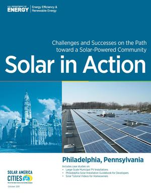 Primary view of object titled 'Philadelphia, Pennsylvania: Solar in Action (Brochure)'.