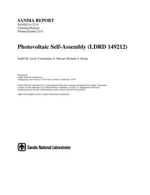 Primary view of object titled 'Photovoltaic self-assembly.'.