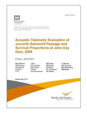 Primary view of object titled 'Acoustic Telemetry Evaluation of Juvenile Salmonid Passage and Survival Proportions at John Day Dam, 2009'.