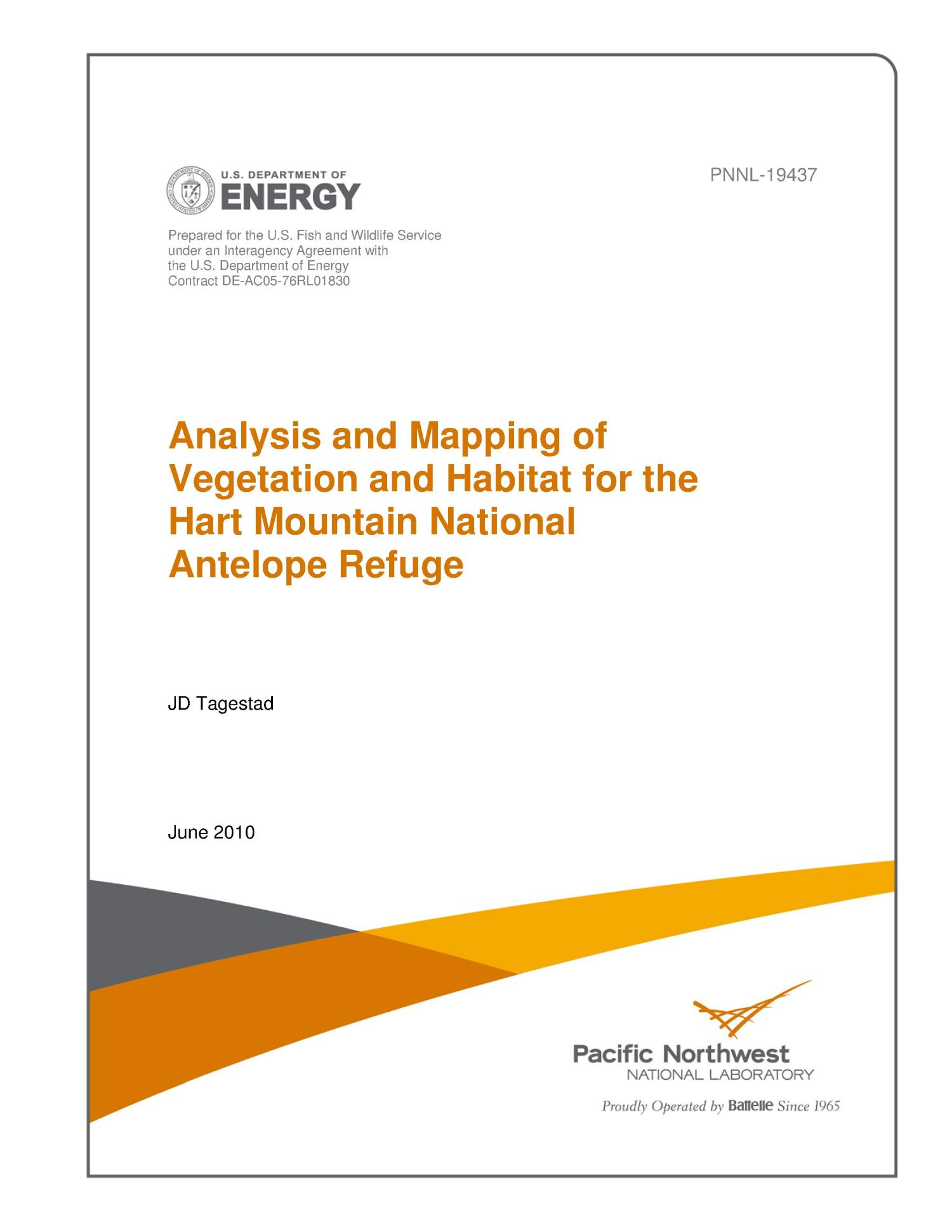 Analysis and Mapping of Vegetation and Habitat for the Hart Mountain National Antelope Refuge                                                                                                      [Sequence #]: 1 of 20