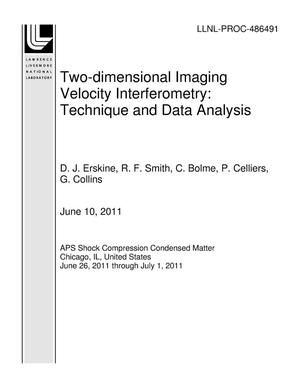 Primary view of object titled 'Two-dimensional Imaging Velocity Interferometry: Technique and Data Analysis'.