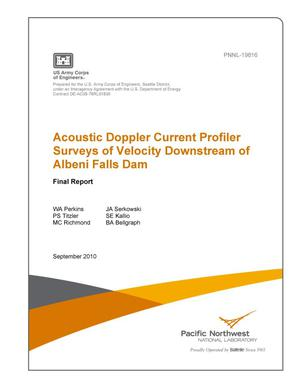 Primary view of object titled 'Acoustic Doppler Current Profiler Surveys of Velocity Downstream of Albeni Falls Dam'.